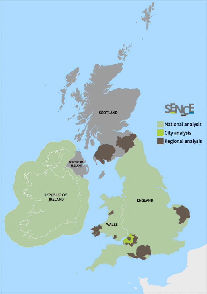 SENCE Ecosystem Services Projects across the UK and Ireland