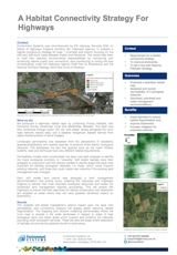 A Habitat Connectivity Strategy for Highways