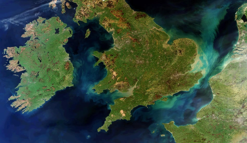 Sentinel 2- Ireland, Britain and Northern France